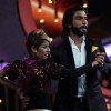 Sonakshi Sinha & Ranveer Singh during the promotion of film Lootera on the sets of dance show Dance India Dance Super Moms in Mumbai