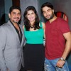 Rajan Shahi, Vahbbiz Dorabjee Dsena and Vivian Dsena at Producer Rajan Shahi's Bash