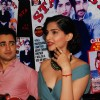Imran Khan and Sonam Kapoor during the unveiling magazine of Stardust cover