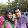 Kratika and Dishank at Zee Holi event
