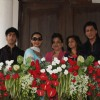 Shahrukh Khan with wife Gauri Khan sister Shehnaz, son Aryan and daughter Suhana celebrating Eid