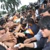 Shahrukh Khan greets his fans with all smiles