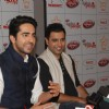 Ayushmann Khurrana and Rochak Kohli address the people regarding the donation drive