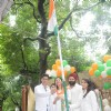 Mohit Raina hoists the Indian Tri-color at the Independence Day Celebration