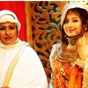 Ashwini Kalsekar and Paridhi Sharma on the set of Jodha Akbar