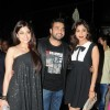 Shamita Shetty, Raj Kundra and Shilpa Shetty came in at the birthday party together