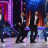 Manish Paul and Ram Charan perform together as others watch
