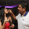 Kapil Mehra and Sanaa Khan at the party