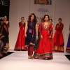 Juhi Chawla walks the ramp for the Pinnacle show by Shruti Sancheti at LAKME FASHION WEEK 2013