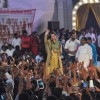 Yukta Mookhey at the Dahi Handi celebrations