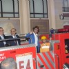 Shahrukh Khan signals the fire engine to move ahead at the Launch of Kidzania