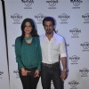 Ronit Roy with his wife Neelam at the Hard Rock Cafe Launch in Andheri