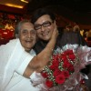 Sachin Pilgaonkar smiles for a photograph together