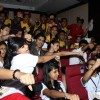 Aditi Rao Hydari, Shiv Pandit, and the students at Mithibai College do the 'Boss' punch