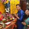 Shreyas Talpade with his wife Deepti celebrate Ganesh Chaturti at their home