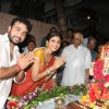 Shilpa Shetty and Raj Kundra seek blessings from Lord Ganesha