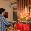 Tusshar Kapoor performs an aarti for Lord Ganesha