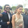 Ranveer Singh and Deepika Padukone arrive at the Trailer Launch of Ram Leela