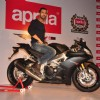 John Abraham poses with his new super bike Aprilia RSV4