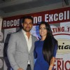 Aftab Shivdasani with his fiance Nin Dusanj at the launch of the Awards