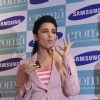 Parineeti Chopra relishes a piece of cake at the launch