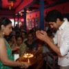 Sharbani Mukherjee and Ayan Mukerji at the Durga Pooja celebrations