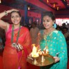 Sharbani Mukherjee and Kajol at the Durga Pooja celebrations