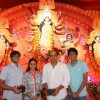 Ashutosh Gowarikar with his family at the Durga Pooja celebrations