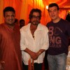 Shakti Kapoor and Aditya Pancholi attend a Mata ki Chowki at Sanjay Gupta's residence