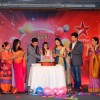 Ruhi cutting her birthday cake at the press conference of Ye Hai Mohobbatein