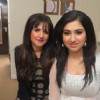 Disha Parmar with makeup artist Zaiba Khan at England