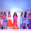 Mona Singh walks the ramp at the Launch of Tangerine Home Couture