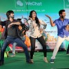 The cast of the movie R.... Rajkumar perform at the promotions