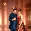 Ritesh and Genelia walk the ramp at the Aamby Valley India Bridal Fashion Week - Day 6