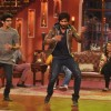 Shahid performs with a fan on Comedy Nights with Kapil