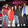 Sunny Leone and Sachin Joshi during a promotional event of their film 'Jackpot'