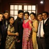 Ravi Dubey and Sargun Mehta with their family at the Reception Party