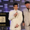 Jeetendra's hand impression tile launch