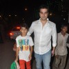 Arbaaz Khan with his son at the midnight mass for Christmas