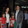 Madhuri Dixit with her family clicked at the airport on 2nd Jan. 2014