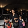 Raveena Tandon with her children clicked at the airport on 2nd Jan. 2014