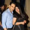 Angad Hasija with his wife at the get together for Aur Pyar Ho Gaya