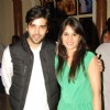 Kinshuk Mahajan with his wife at the get together for Aur Pyar Ho Gaya