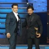 Shahrukh Khan and Salman Khan greet each other at the 9th Star Guild Awards