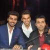 Arjun, Ranveer and Karan Johar pose for a picture