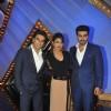 Ranveer, Priyanka and Arjun pose for a click