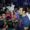 Salman Khan with the children at the launch Thumps Up & Being Human Foundation's Veer Campaign
