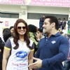 Salman and Huma in a chat at the CCL Dubai match