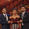 Ranveer and Arjun tug onto Priyanka during promotiions of their film Gunday