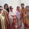 Asha Bhosle joined Bappi Lahiri and his family for Saraswati Puja